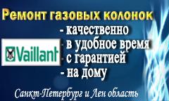 Ремонт газовых колонок Вайлант в СПб