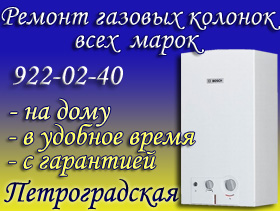 Ремонт газовых колонок Петроградская