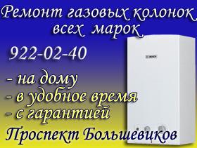 Ремонт газовых колонок Проспект Большевиков