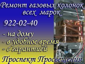 Ремонт газовых колонок Проспект Просвещения