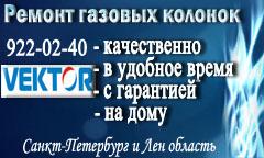 Ремонт газовых колонок VEKTOR (Вектор)