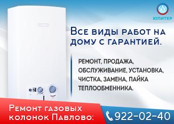 Ремонт газовых колонок в Павлово